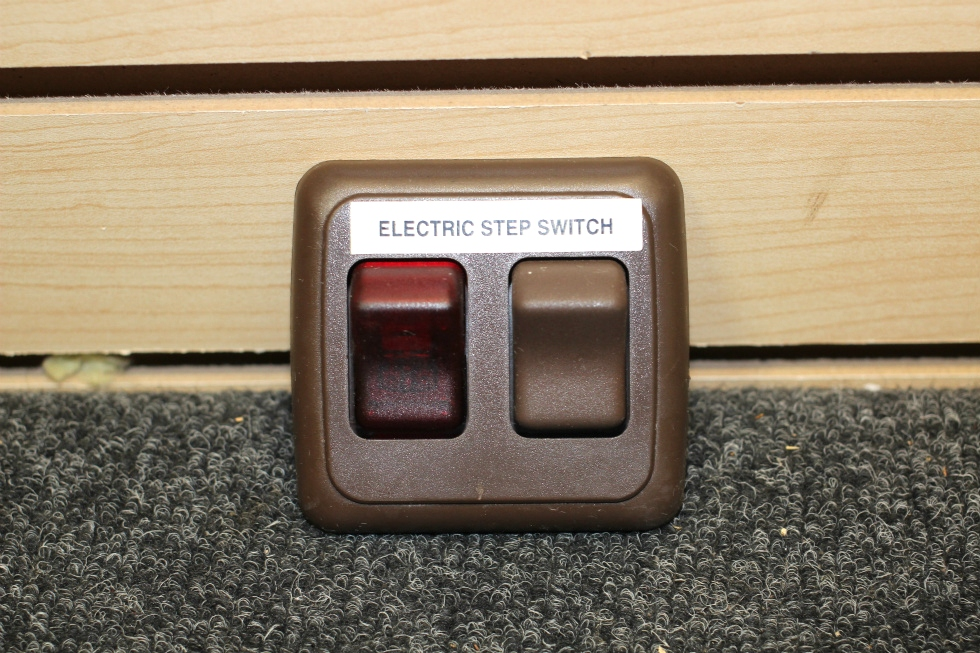 AMERICAN TECHNOLOGY COMPONENTS BROWN INTERIOR DOUBLE ELECTRIC STEP SWITCH PN: AH-ASY-2-2-011 RV Components