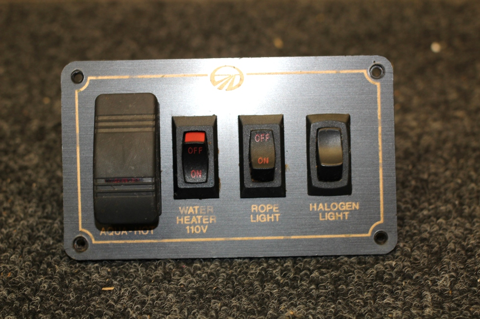 Rv components used monaco switch panel for aqua hot water heater used monaco switch panel for aqua hot water heater halogenrope light rv aloadofball Images