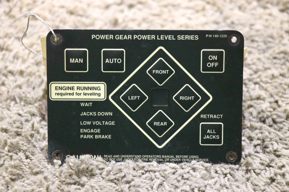 USED POWER GEAR POWER LEVEL SERIES 140-1226 RV LEVELING TOUCH PAD MOTORHOME PARTS FOR SALE RV Components