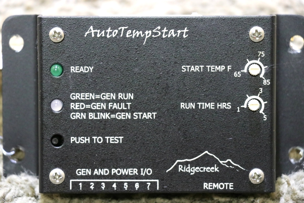 USED RIDGECREEK MOTORHOME AUTO TEMP START RV PARTS FOR SALE RV Components