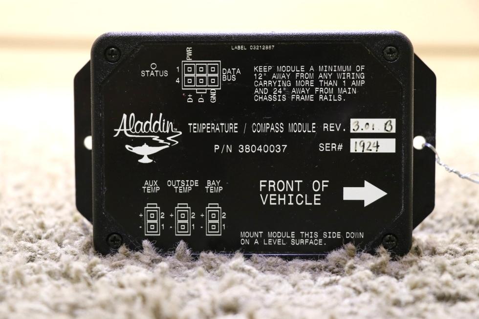 USED 38040037 RV ALADDIN TEMPERATURE / COMPASS MODULE MOTORHOME PARTS FOR SALE RV Components