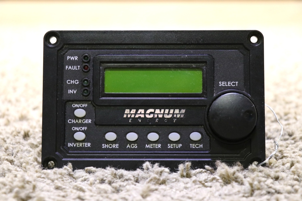 USED MOTORHOME MAGNUM ENERGY INVERTER/CHARGER REMOTE RV PARTS FOR SALE RV Components