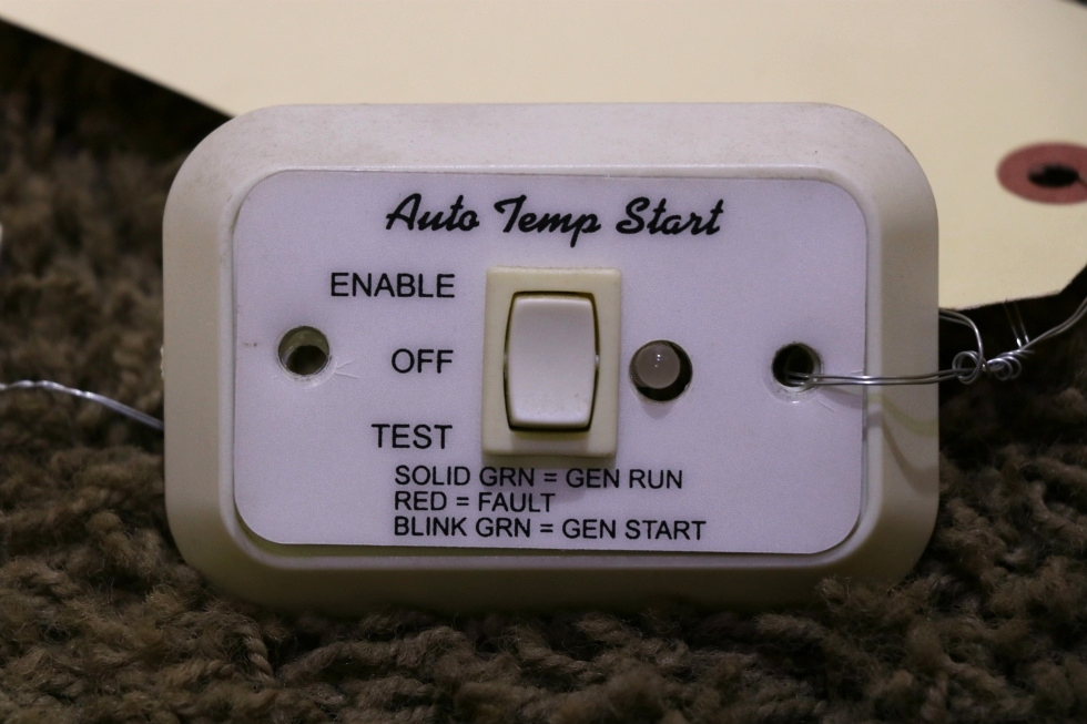 USED MOTORHOME AUTO TEMP START A9159WH SWITCH PANEL RV PARTS FOR SALE RV Components