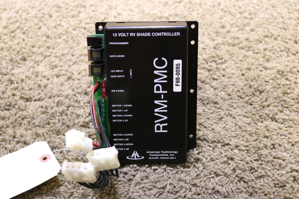USED RV AT-RVM-PMC02 AMERICAN TECHNOLOGY 12 VOLT RV SHADE CONTROLLER RVM-PMC F88-0095 MOTORHOME PARTS FOR SALE RV Components