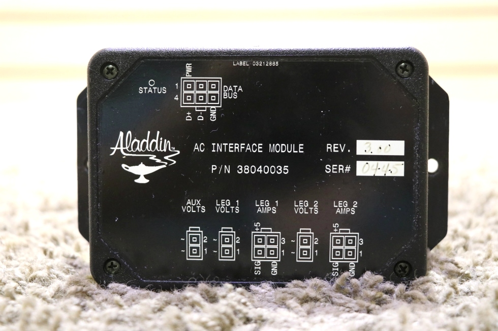 38040035 USED MOTORHOME ALADDIN AC INTERFACE MODULE RV PARTS FOR SALE RV Components