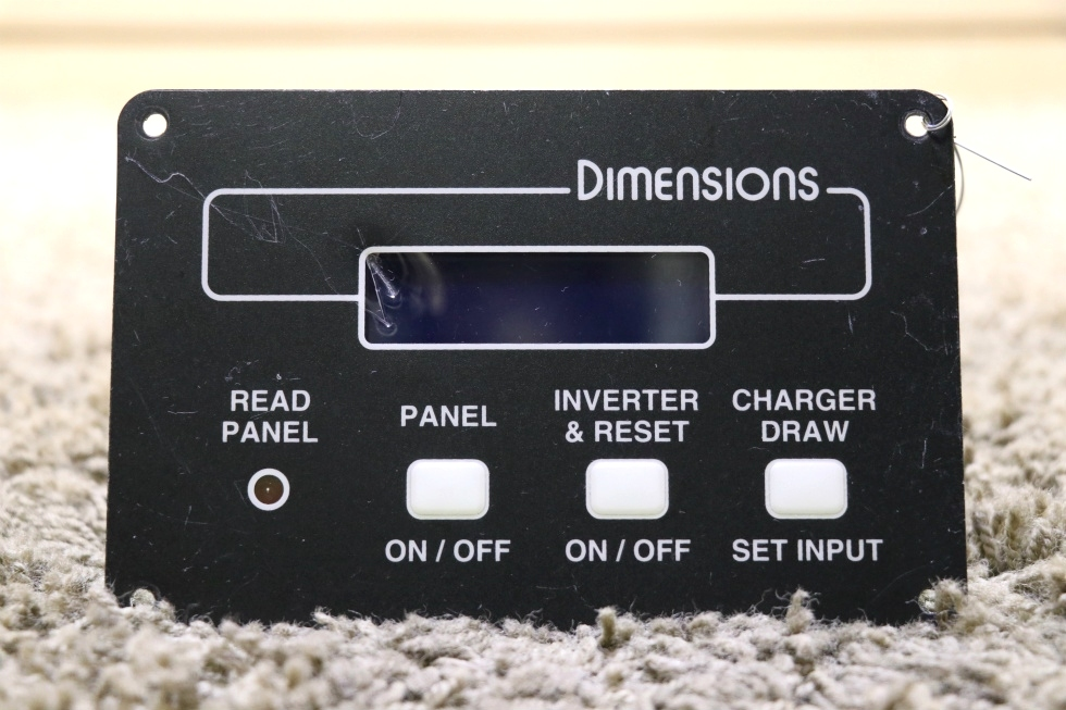 USED RV DIMENSIONS INVERTER REMOTE 141255-2 MOTORHOME PARTS FOR SALE RV Components