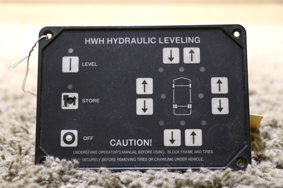 USED MOTORHOME HWH HYDRAULIC LEVELING CONTROL TOUCH PAD RV PARTS FOR SALE RV Components