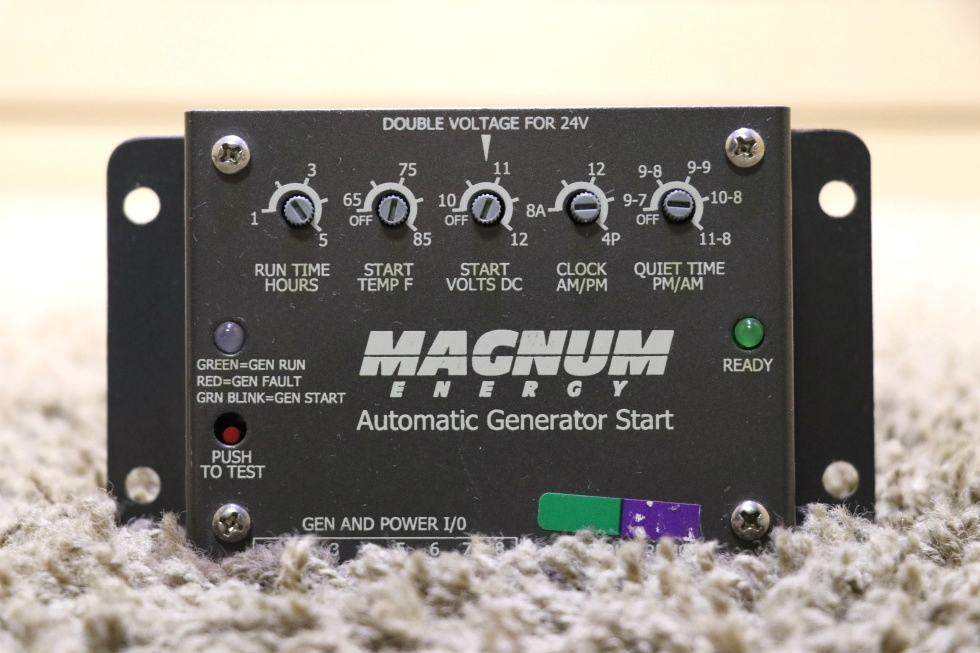 USED MOTORHOME MAGNUM ENERGY AUTOMATIC GENERATOR START RV PARTS FOR SALE RV Components