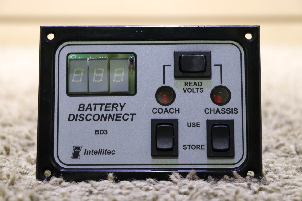 INTELLITEC 01-00066-007 BATTERY DISCONNECT BD3 SWITCH PANEL RV PARTS FOR SALE RV Components