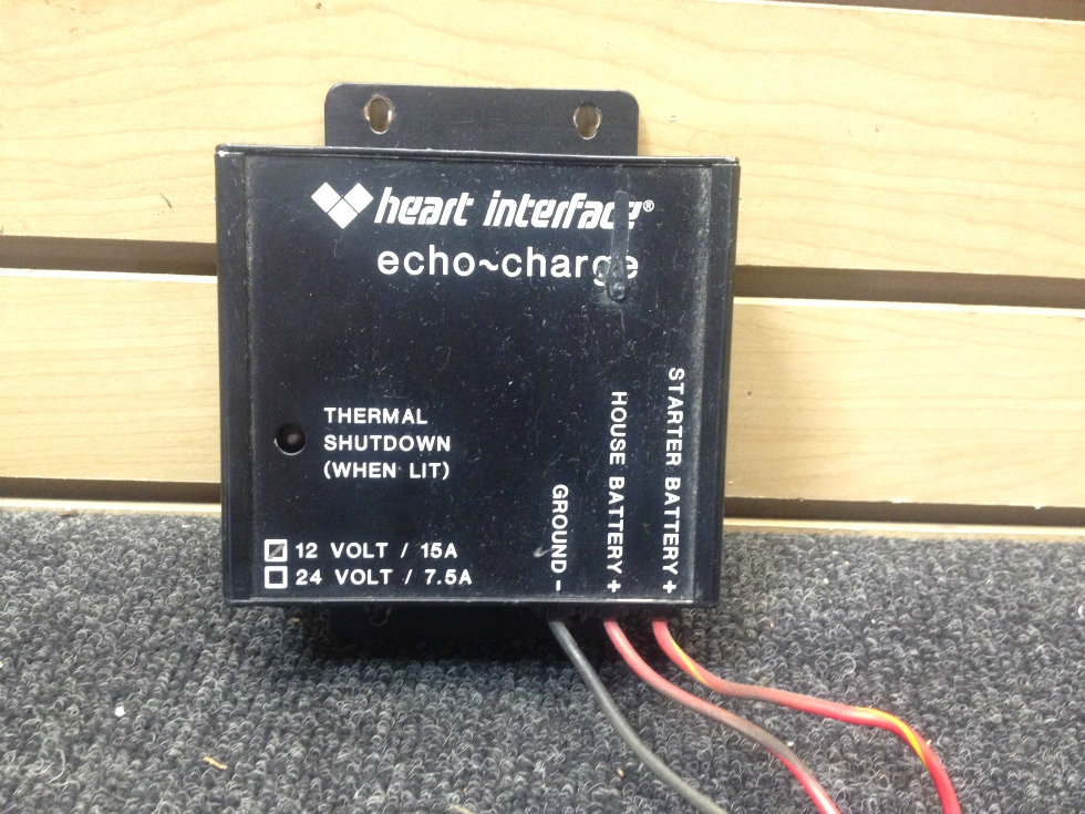 USED RV/MOTORHOME HEART INTERFACE ECHO-CHARGE | 12V/15A RV Components