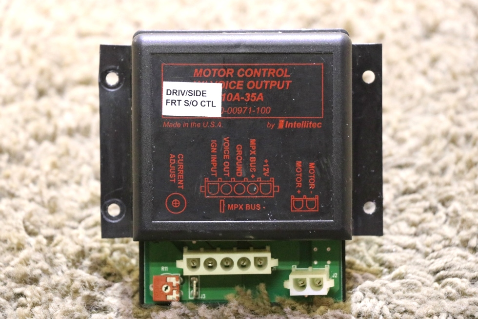 USED RV 00-00971-100 MOTOR CONTROL W/ VOICE OUTPUT BY INTELLITEC MOTORHOME PARTS FOR SALE RV Components