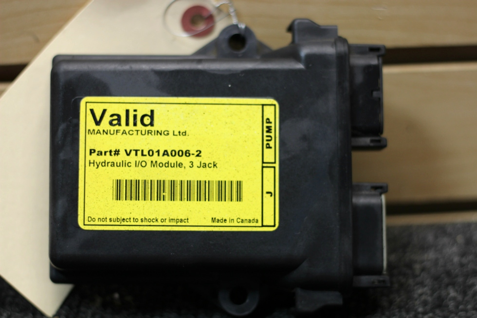 USED RV VALID MANUFACTURING HYDRAULIC I/O MODULE, 3 JACK PN: VTL01A006-2 RV Components