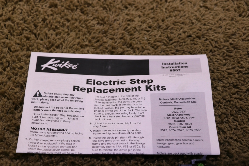 RV Components NEW 379608 LIPPERT COMPONENTS ENTRY STEP MOTOR