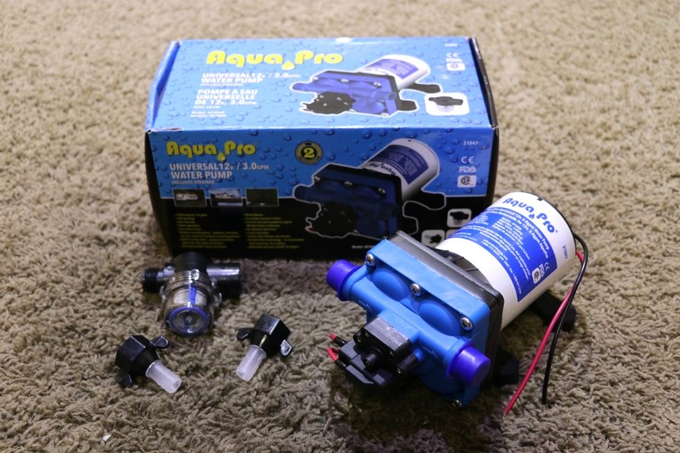 AQUA PRO MODEL: AP3000 UNIVERSAL 12V 3.0 GPM WATER PUMP RV PARTS FOR SALE RV Components
