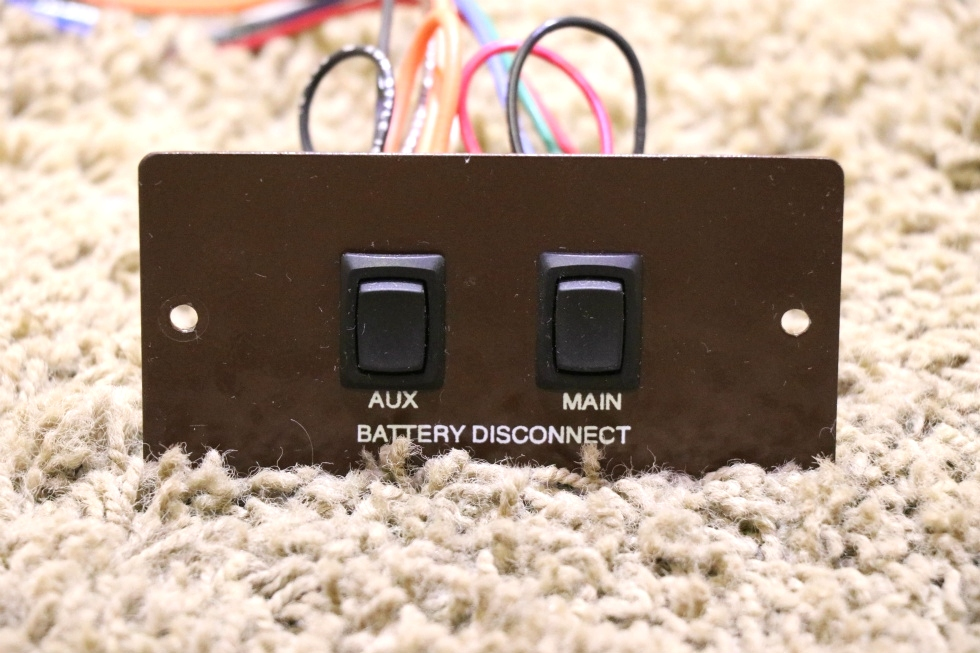 USED AUX / MAIN BATTERY DISCONNECT SWITCH PANEL MOTORHOME PARTS RV Components