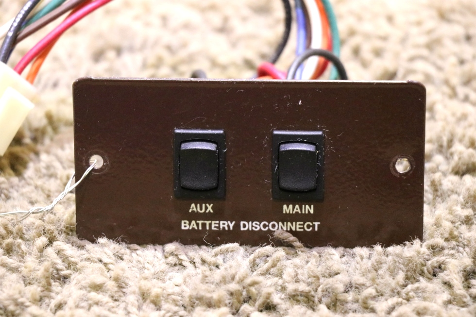 USED AUX / MAIN MOTORHOME BATTERY DISCONNECT SWITCH PANEL L9224ML RV PARTS FOR SALE RV Components