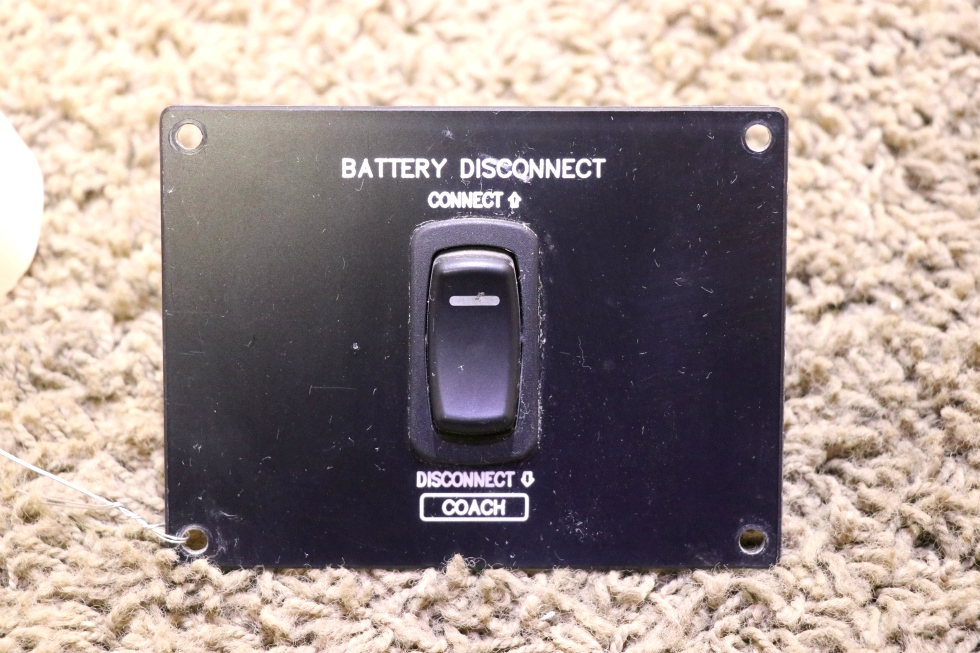 USED RV COACH CONNECT / DISCONNECT BATTERY DISCONNECT SWITCH PANEL MOTORHOME PARTS FOR SALE RV Components