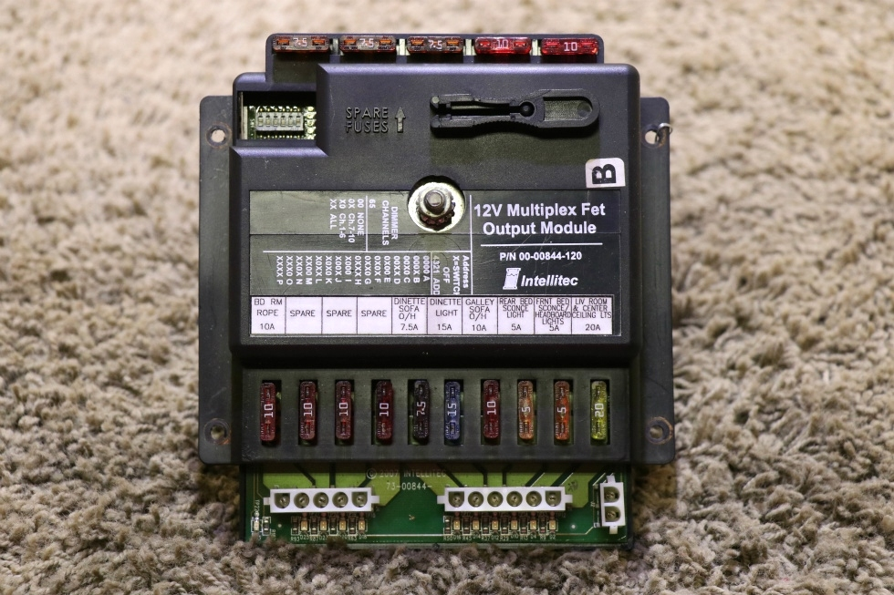 USED MOTORHOME 00-00844-120 12V MULTIPLEX FET OUTPUT MODULE BY INTELLITEC RV PARTS FOR SALE RV Components
