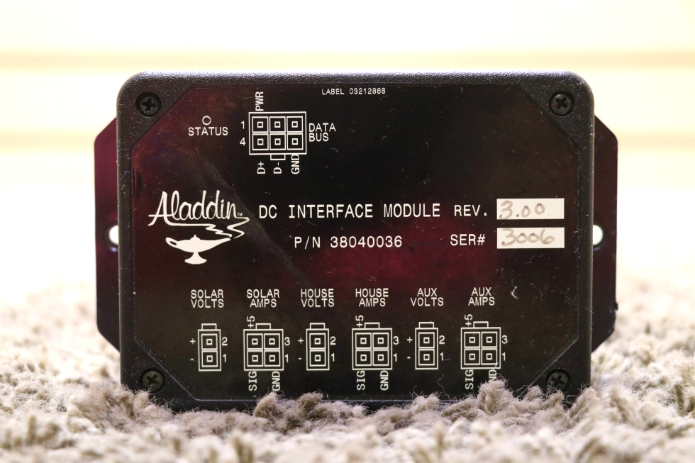 USED 38040036 ALADDIN MOTORHOME DC INTERFACE MODULE RV PARTS FOR SALE RV Components