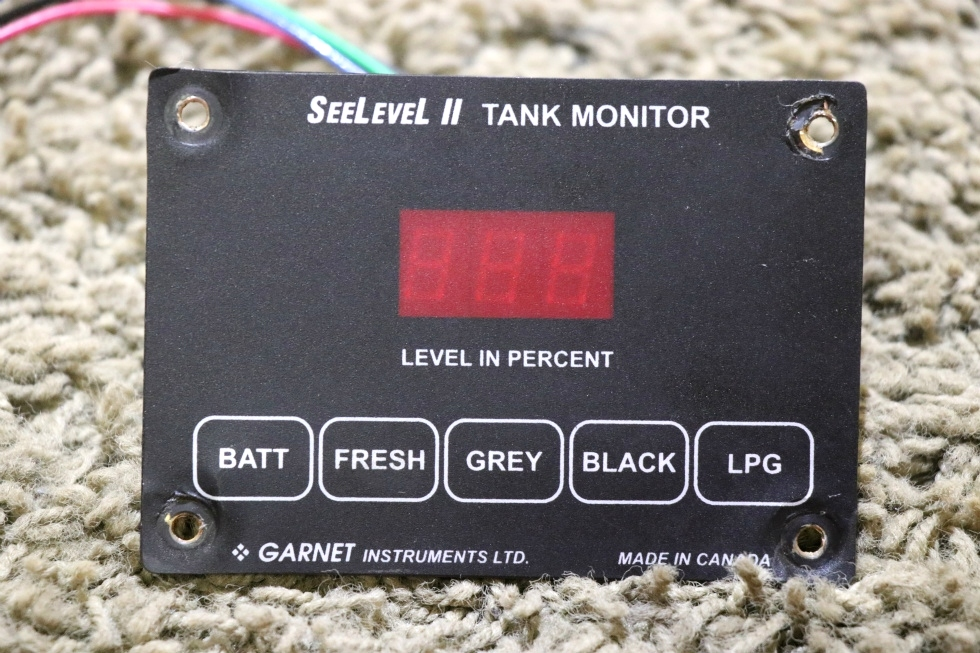 USED RV SEELEVEL II TANK MONITOR 709-01783 BY GARNET INSTRUMENTS MOTORHOME PARTS FOR SALE RV Components