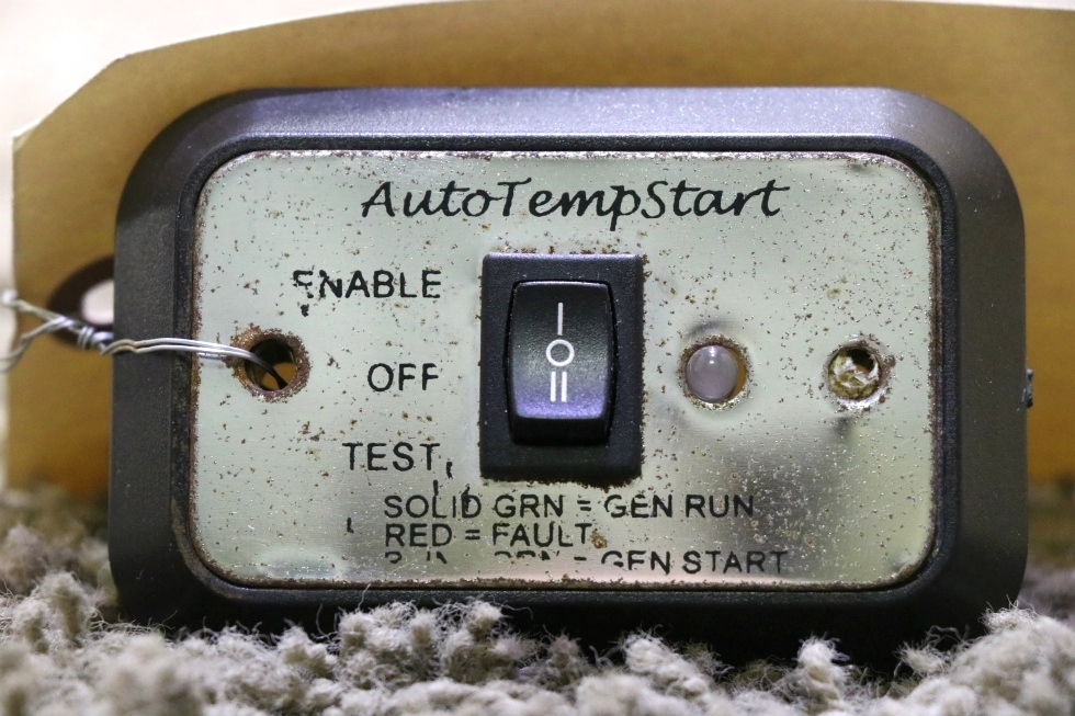 USED MOTORHOME AUTOTEMPSTART SWITCH PANEL A9159CH RV PARTS FOR SALE RV Components