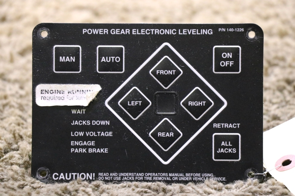 USED POWER GEAR ELECTRONIC LEVELING TOUCH PAD 140-1226 MOTORHOME PARTS FOR SALE RV Components