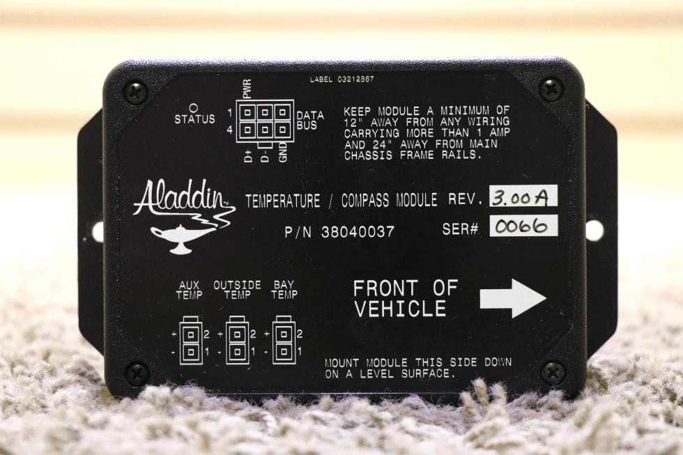 USED RV 38040037 TEMPERATURE / COMPASS MODULE ALADDIN RV PARTS FOR SALE RV Components