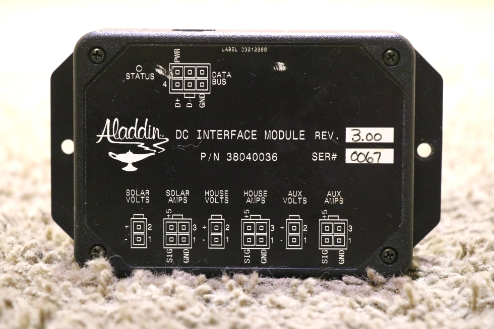 USED ALADDIN DC INTERFACE MODULE PN: 38040036 RV PARTS FOR SALE RV Components