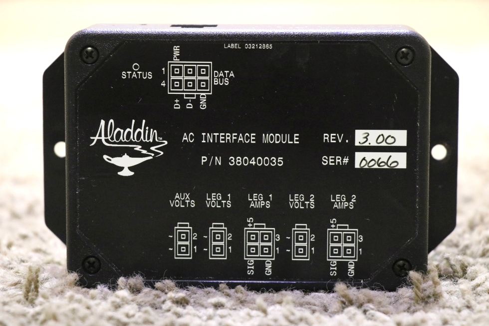 USED 38040035 ALADDIN SYSTEM AC INTERFACE MODULE MOTORHOME PARTS SALE RV Components