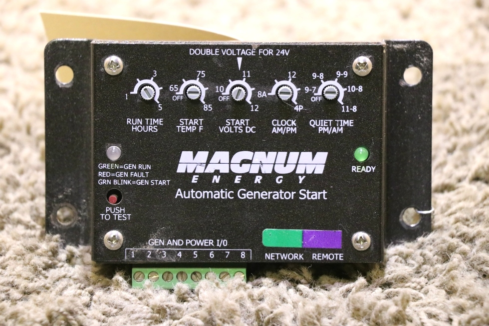 USED RV MAGNUM ENERGY AUTOMATIC GENERATOR START MOTORHOME PARTS FOR SALE RV Components