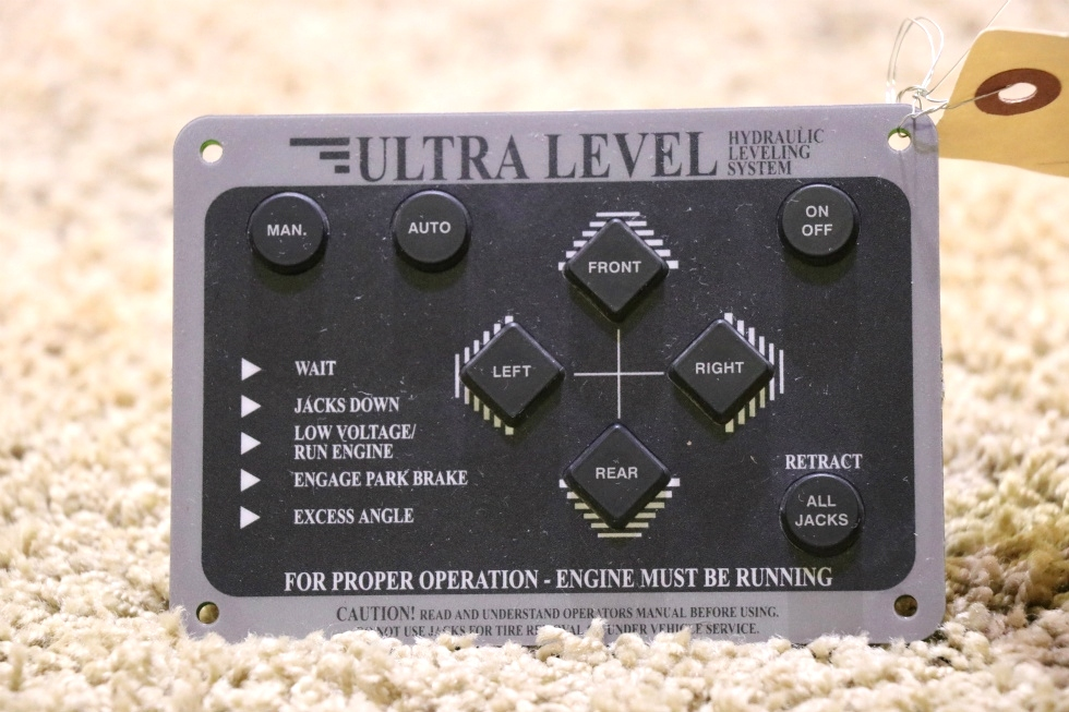 USED RV 12593A ULTRA LEVEL HYDRAULIC LEVELING SYSTEM TOUCH PAD FOR SALE RV Components