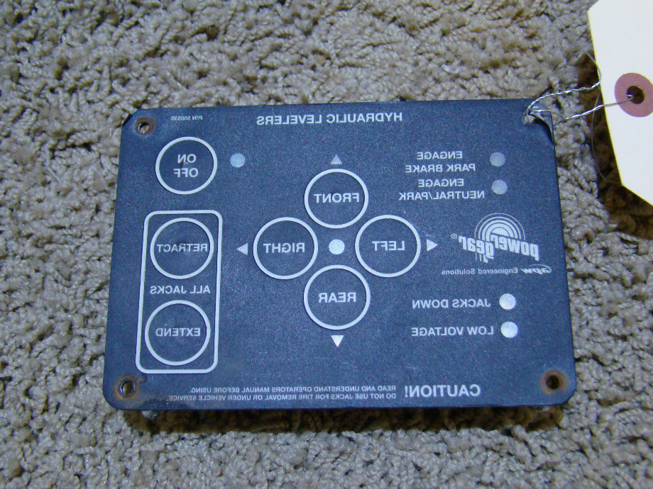 Used Power Gear 500535 Leveling Control Panel RV Components