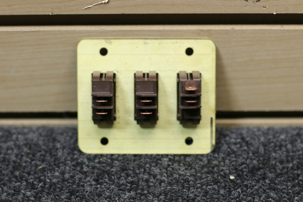 NEW RV TRIPLE SWITCH PANEL - NO MOUNT RV Components
