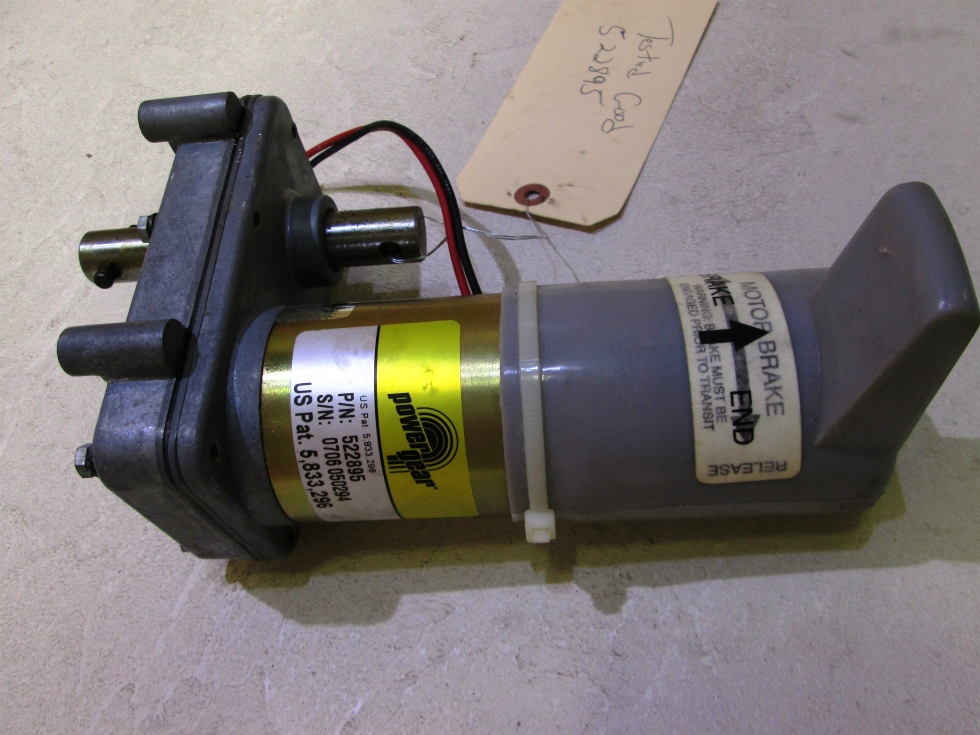 NEW POWER GEAR SLIDE MOTOR P/N 522895 FOR SALE  RV Components