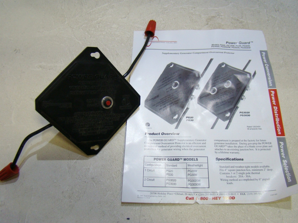 POWER GUARD SURGE PROTECTOR FOR GENERATOR CIRCUITS RV Components