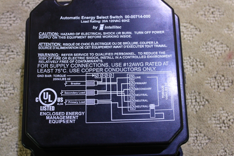 USED INTELLITEC AUTOMATIC ENERGY SELECT SWITCH RV Components