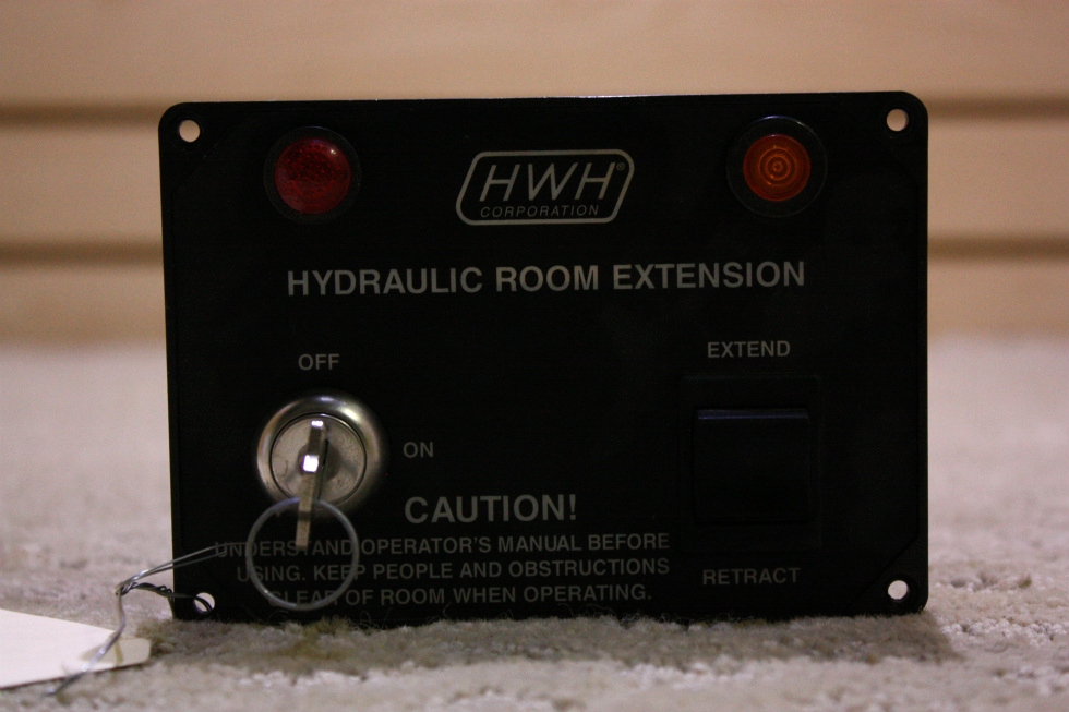 USED HWH HYDRAULIC ROOM EXTENSION KEY SWITCH PANEL FOR SALE RV Components
