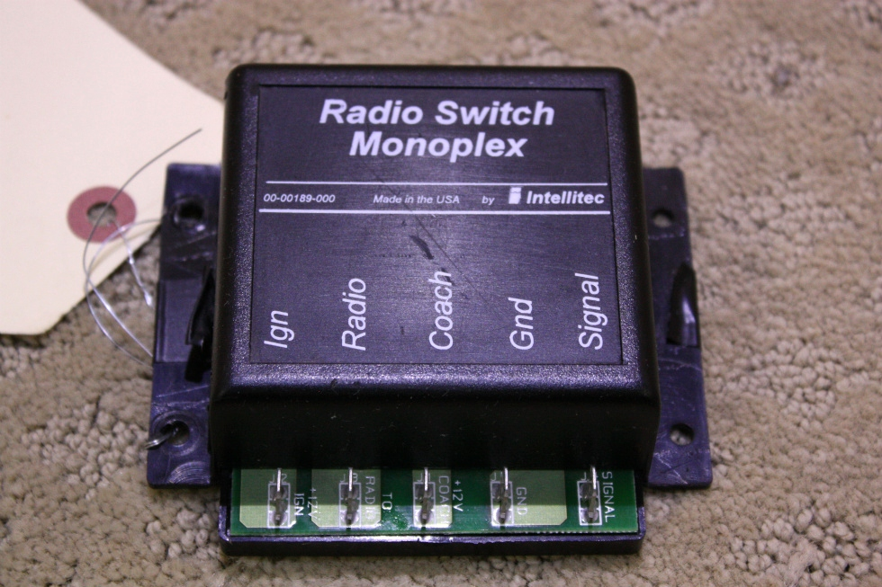 USED INTELLITEC RADIO SWITCH MONOPLEX 00-00189-000 FOR SALE RV Components