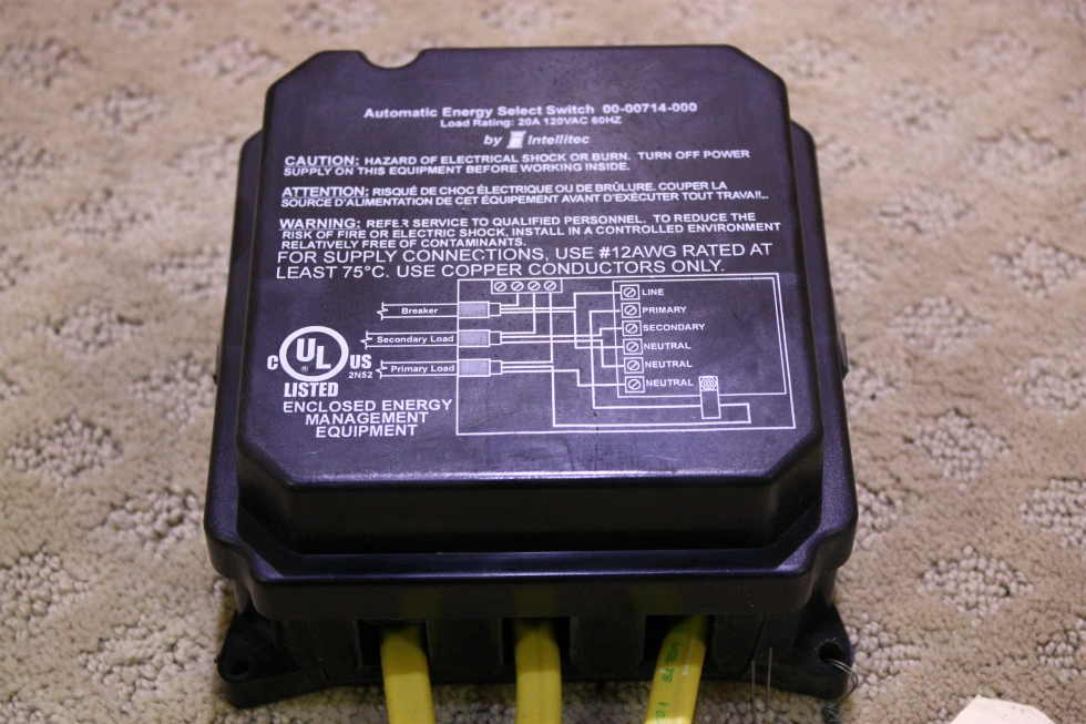 USED AUTOMATIC ENERGY SELECT SWITCH 00-00714-000 FOR SALE RV Components