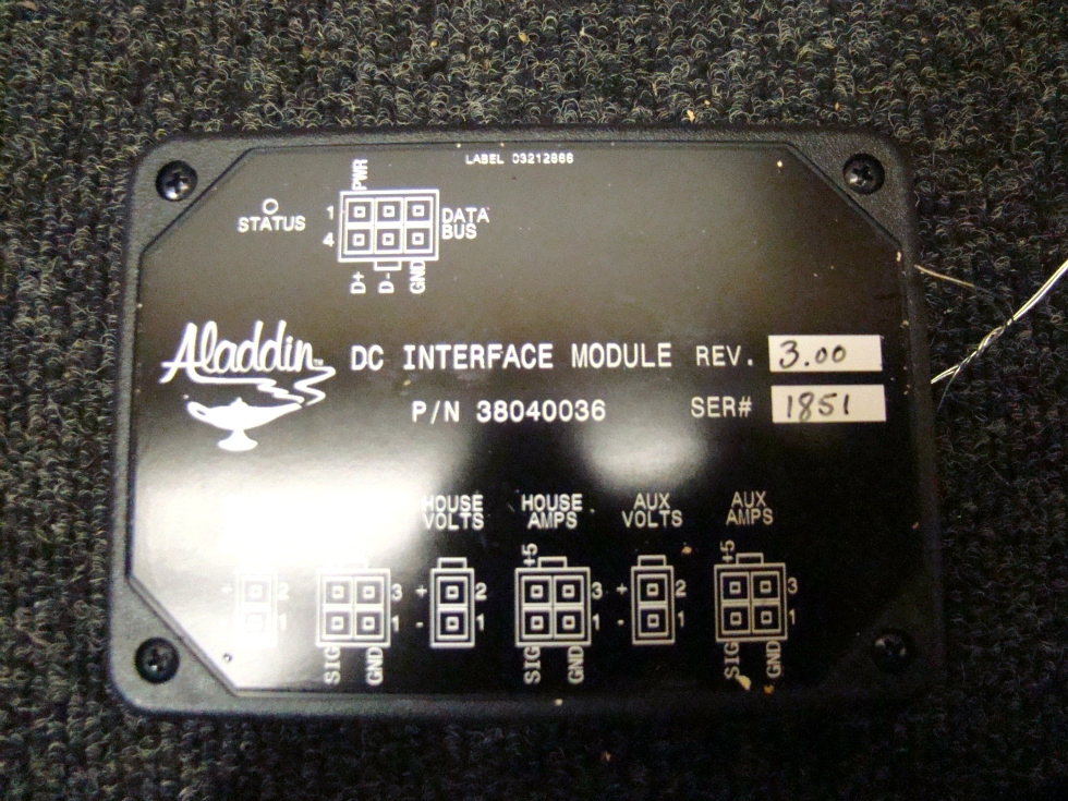 USED RV/MOTORHOME ALADDIN DC INTERFACE MODULE REV.3.00 RV Components