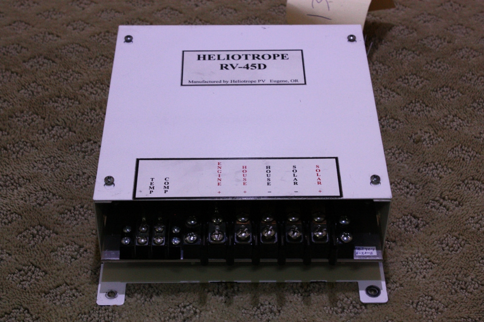 USED RV/MOTORHOME HELIOTROPE SOLAR CHARGER RV-45D FOR SALE RV Components