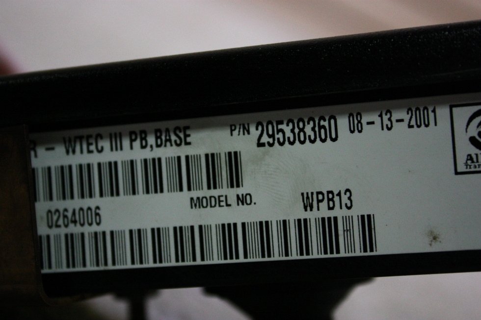 USED ALLISON TOUCH PAD SHIFT SELECTOR 29538360 FOR SALE RV Components