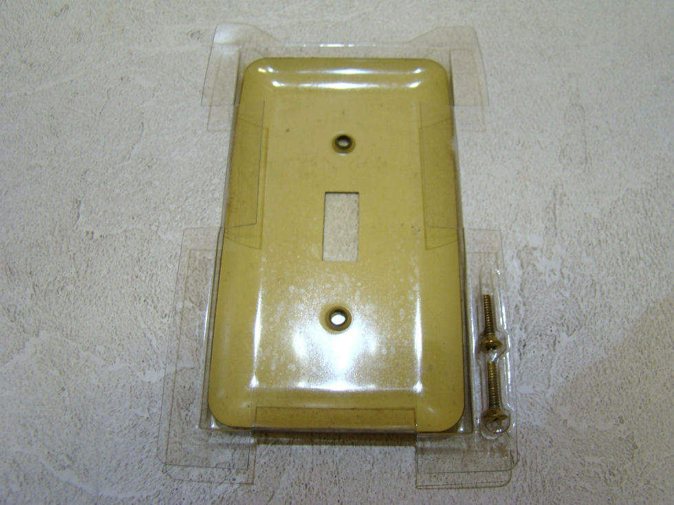RV/MOTORHOME SINGLE UNIVERSAL GOLD SWITCH PLATE $3.99 FREE SHIPPING! RV Accessories