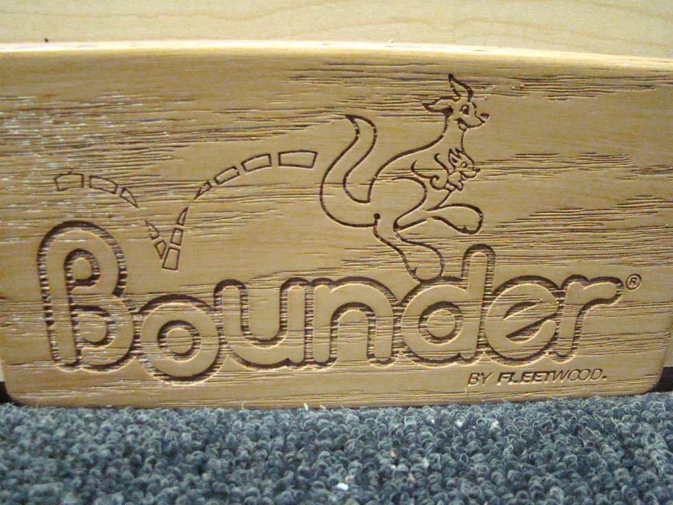 NEW BOUNDER WOOD PLATE MADE BY: FLEETWOOD PRICE:$5.00 +$5.99 SHIPPING  RV Accessories