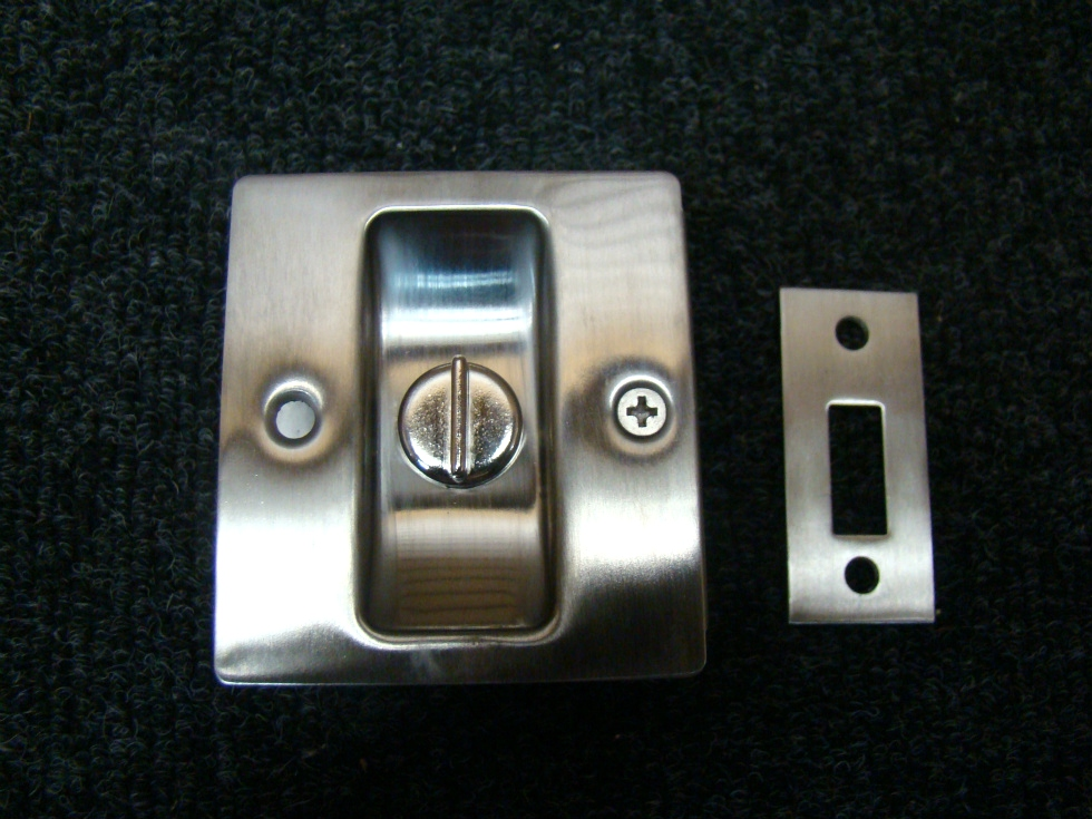 NEW RV/MOTORHOME STAINLESS PRIVACY POCKET DOOR LOCK 2 3/4 X 2 1/2 X 1 3/8 RV Accessories
