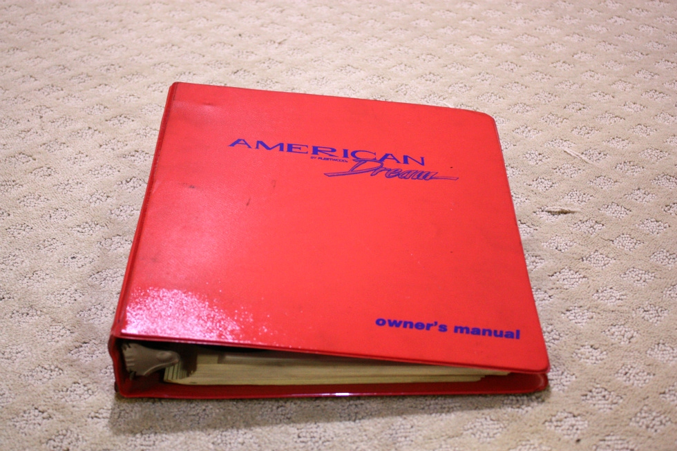 USED 1998 FLEETWOOD AMERICAN DREAM OWNERS MANUAL BINDER FOR SALE RV Accessories