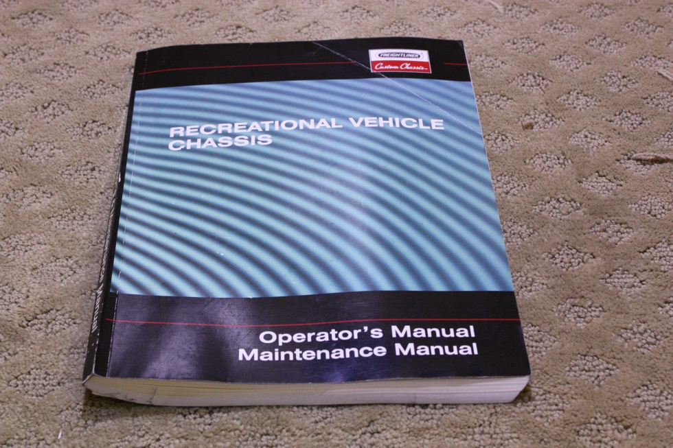 USED RECREATIONAL VEHICLE CHASSIS OPERATORS MANUAL FOR SALE RV Accessories