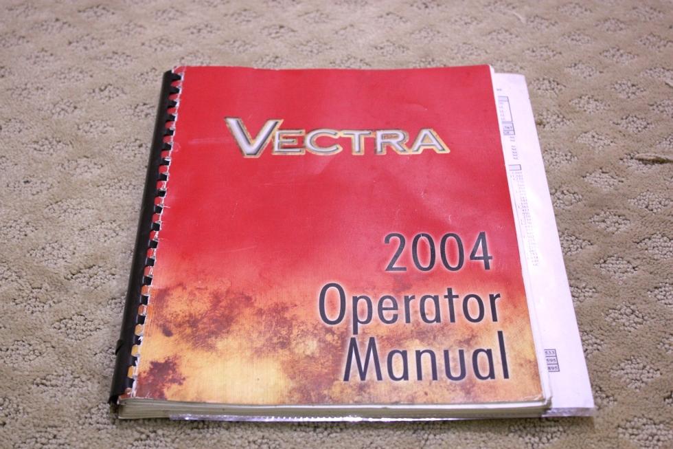 USED 2004 WINNEBAGO VECTRA OPERATORS MANUAL FOR SALE RV Accessories