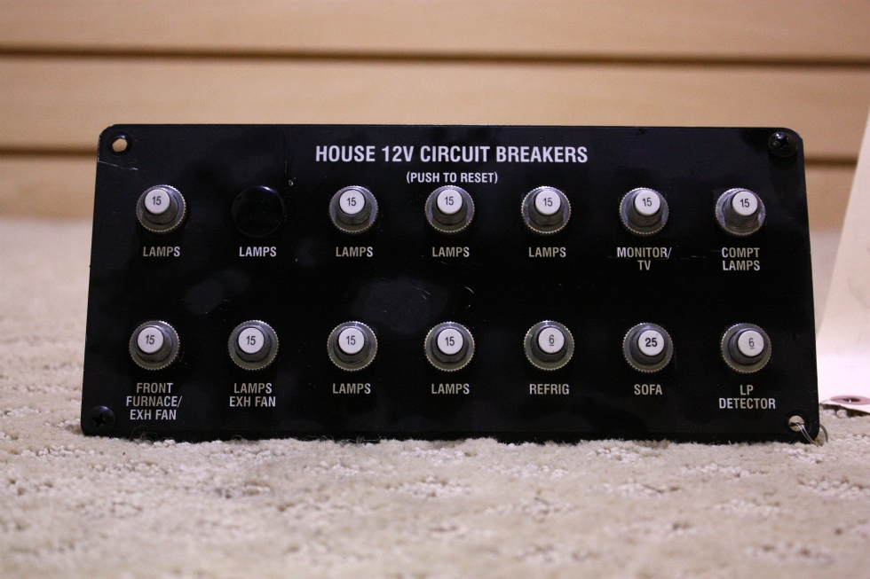 USED RV/MOTORHOME HOUSE 12V CIRCUIT BREAKER FOR SALE RV Accessories