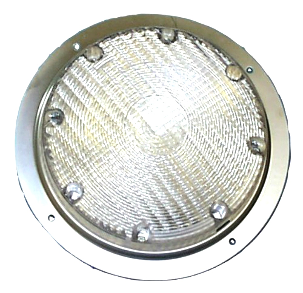 NEW RV/MOTORHOME  ARCON 20671 BRIGHT WHITE 12V SCARE LIGHT WITH CLEAR LENS RV Accessories
